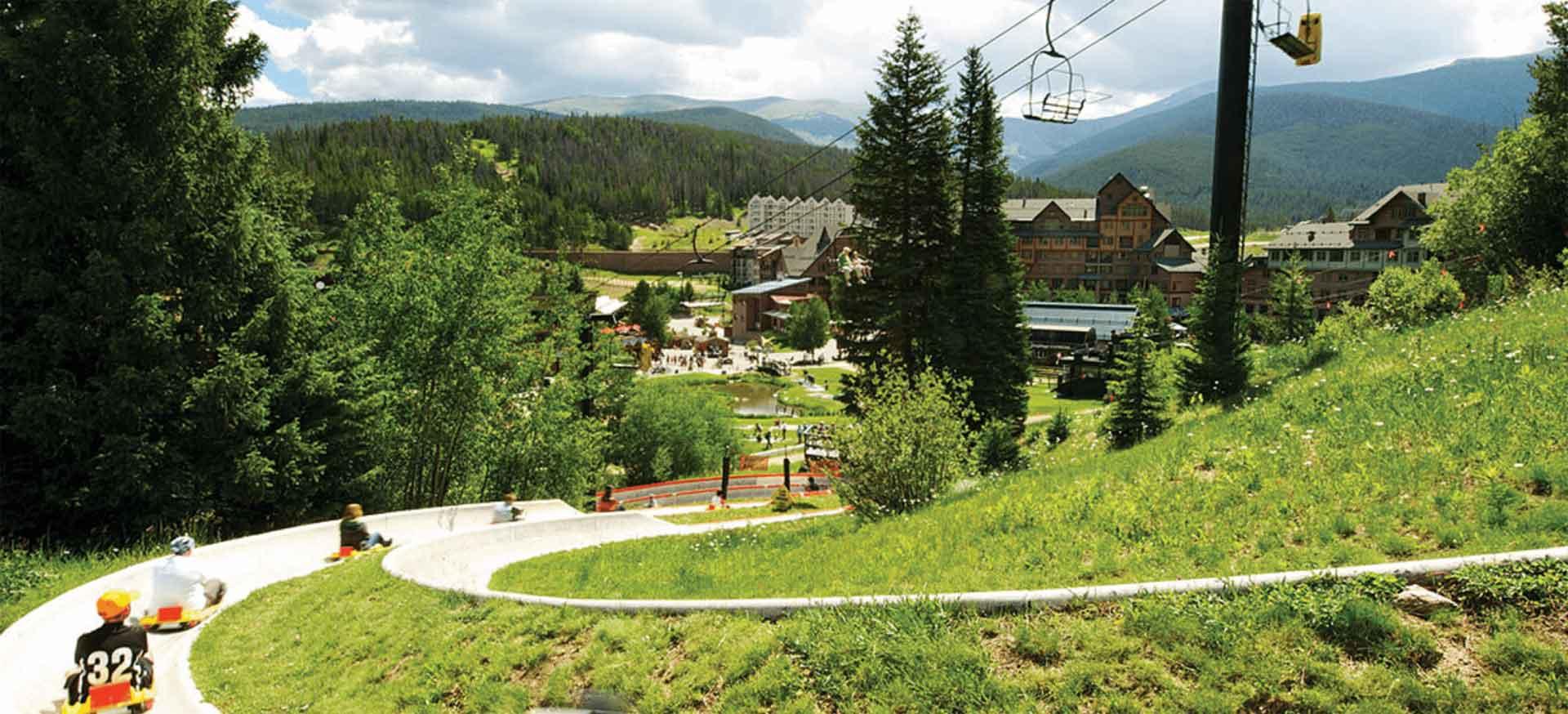 Summer ski slopes.