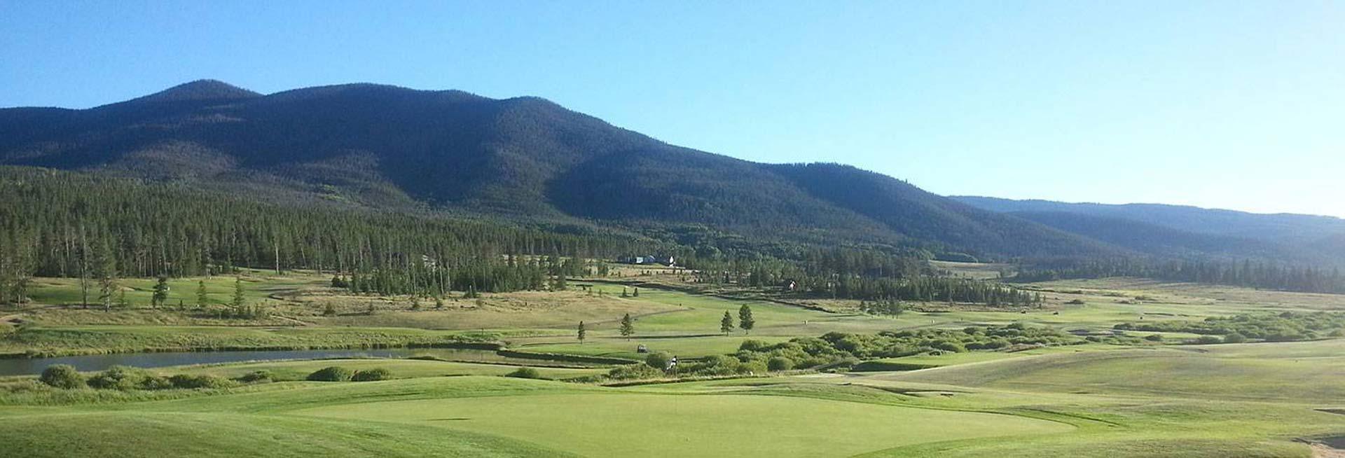 Scenic golf course.