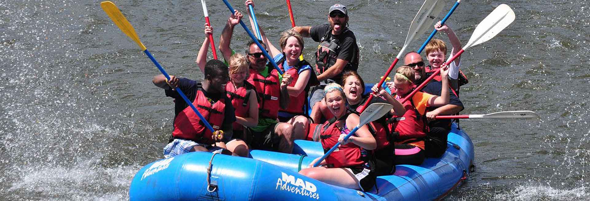 Group of whitewater rafters.